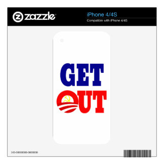 Get Out of the White House Skin For The iPhone 4