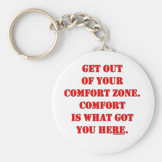 Get Out of Your Comfort Zone! Basic Round Button Keychain