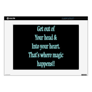 """Get Out of your head & Into your heart 15"""" Laptop Decal"""