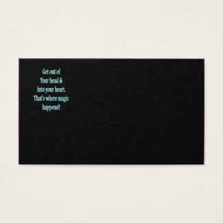 Get Out of your head & Into your heart Business Card