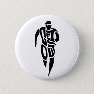 Get Out!!!! Runner. Pinback Button