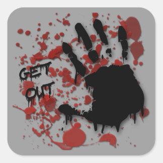 """Get Out"" Sticker"