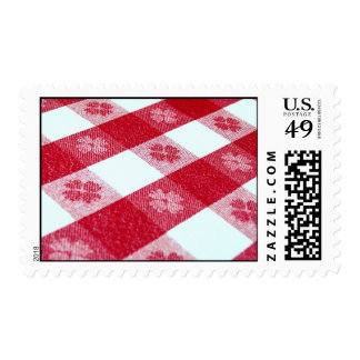 Get Out the Red-Checked Tablecloth! Postage Stamp