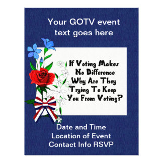 GET OUT THE VOTE FLYER