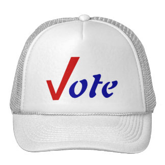 Get Out the Vote Hats Check Mark Hat Votes Voting