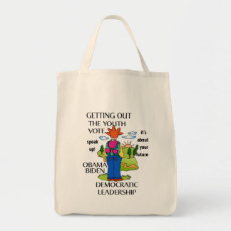 Get out the Vote   Support Barack Obama tote