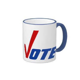Get Out The Vote Voting Mug Mugs Check Mark red