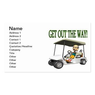 Get Out The Way Business Card