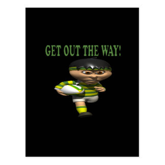 Get Out The Way Postcard