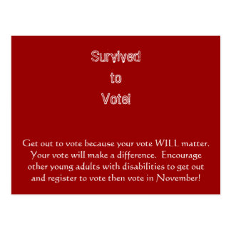Get out to vote postcard