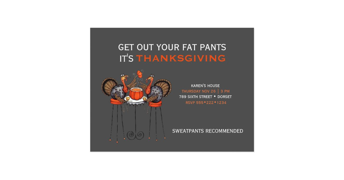 Thanksgiving Dinner Postcards | Zazzle