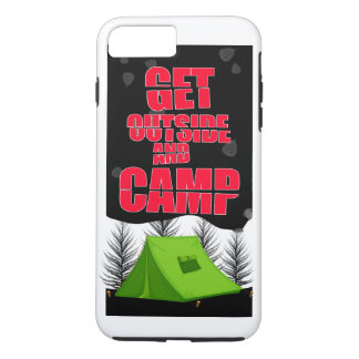 Get outside and camp iphone case