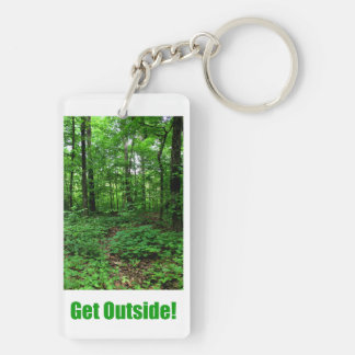 Get Outside! Double-Sided Rectangular Acrylic Keychain