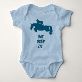 Get Over It Horse Baby Bodysuit