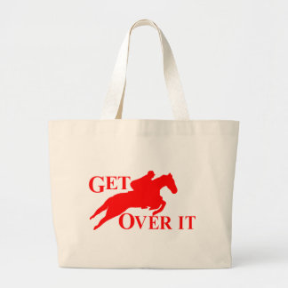GET OVER IT HORSE CANVAS BAGS