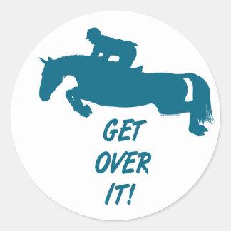 Get Over It Horse Classic Round Sticker