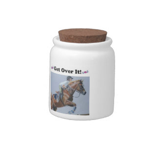 Get Over It! Horse Cookie Jar Candy Dishes