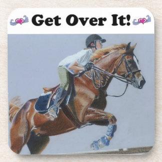 Get Over It! Horse Jumper Cork Coaster