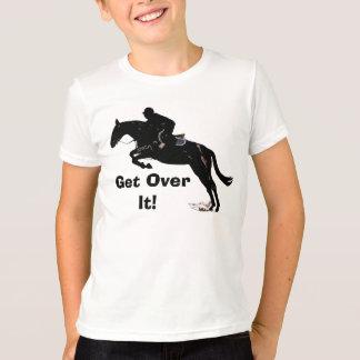 Get Over It! Horse Jumper Kid's Ringer T-Shirt