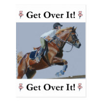 Get Over It! Horse Jumper Postcard