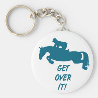 Get Over It Horse Keychain