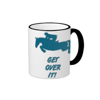 Get Over It Horse Ringer Mug
