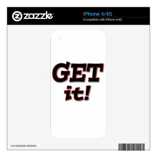 Get 'over' It ! Skins For iPhone 4