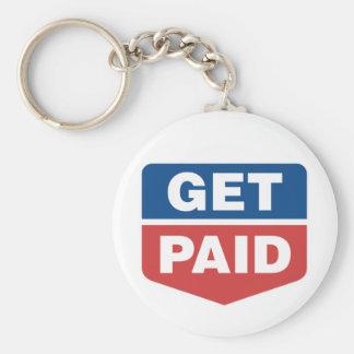Get Paid Basic Round Button Keychain