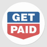Get Paid Round Stickers