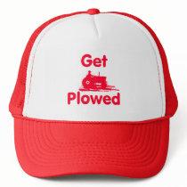 Get Plowed -Field RED Trucker Hat