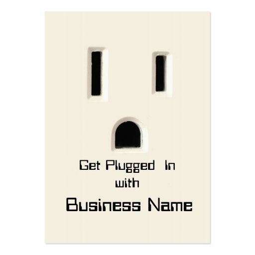 Get Plugged In  business card