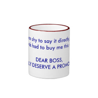 Get promoted ringer mug