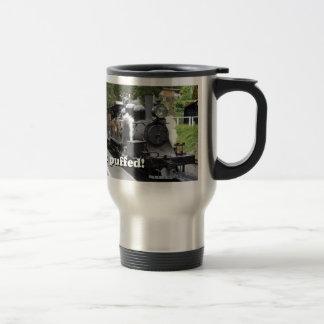 Get puffed! Steam engine, Victoria, Australia Travel Mug