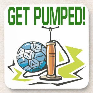 Get Pumped Beverage Coaster