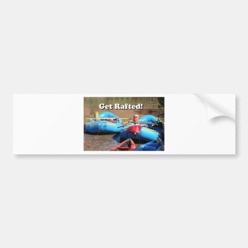Get Rafted! Rafts, Colorado River, Utah, USA Bumper Stickers