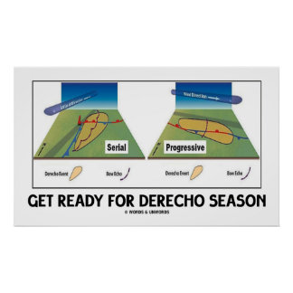 Get Ready For Derecho Season (Meteorology Weather) Poster