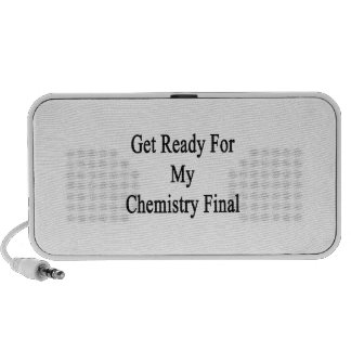 Get Ready For My Chemistry Final Speakers