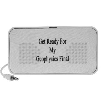 Get Ready For My Geophysics Final Travelling Speaker