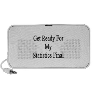 Get Ready For My Statistics Final iPod Speakers
