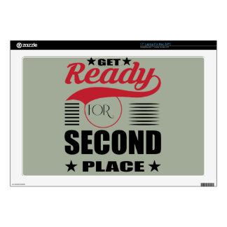 """Get Ready for Second Place 17"""" Laptop Decal"""