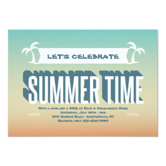 Get Ready for Summer Time Invitation