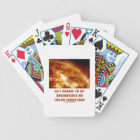 Get Ready To Be Bombarded By Solar Radiation Bicycle Playing Cards