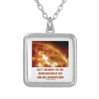 Get Ready To Be Bombarded By Solar Radiation Square Pendant Necklace