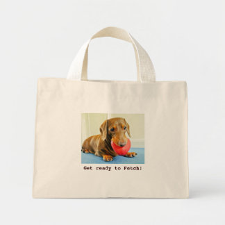 Get ready to Fetch dachshund shopping bag