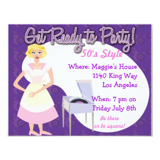 Get Ready to Party! 4.25x5.5 Paper Invitation Card