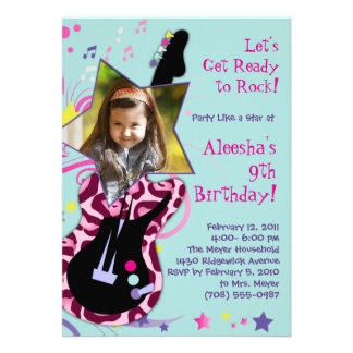 Get Ready to Rock Rock Star Diva Party Invitation