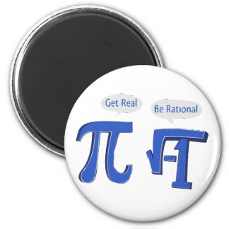 Get Real Be Rational 2 Inch Round Magnet
