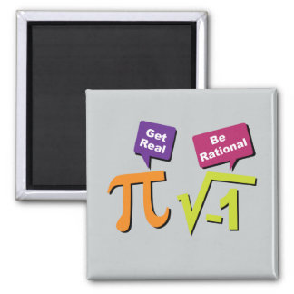 Get Real - Be Rational 2 Inch Square Magnet