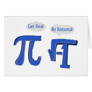 Get Real Be Rational Card