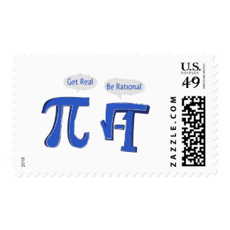 Get Real Be Rational Postage Stamps